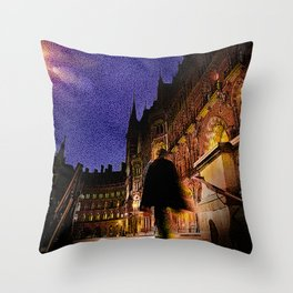 Victorian London Architecture Throw Pillow