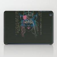kitsune iPad Cases featuring Dark Kitsune by MadameAce