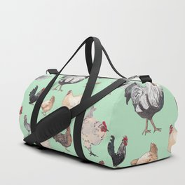 Chicken Happy (green) Duffle Bag