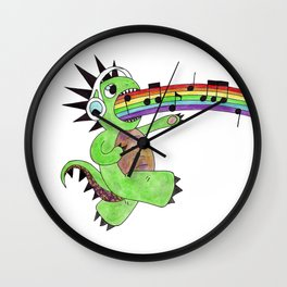 Rainbow Singing Dinosaur  Wall Clock
