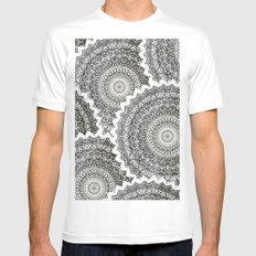 WINTER MANDALAS White Mens Fitted Tee MEDIUM
