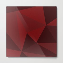 Red Triangles 1 Metal Print