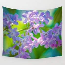 Purple Lilac Flowers Wall Tapestry