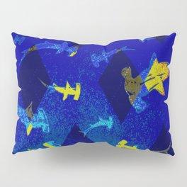 Argyle Frenzy in Lapis Pillow Sham