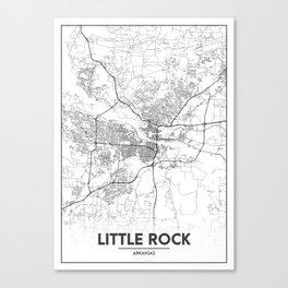 Minimal City Maps - Map Of Little Rock, Arkansas, United States Canvas Print