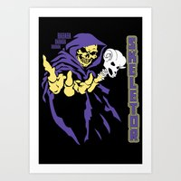 skeletor Art Prints featuring Skeletor  by Buby87