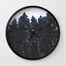 Cold Storm Wall Clock