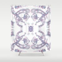 2001 Shower Curtains featuring 2001 Moonbase Clavius by Jan Wurtmann