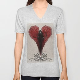 Love Kills; or at least makes you very uncomfortable Unisex V-Neck