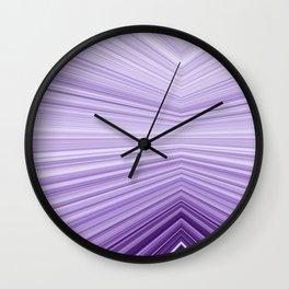 Abstract Line Art-Purple Wall Clock