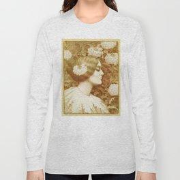 Autumn Woman, art nouveau drawing Paul Berthon 1900 Long Sleeve T-shirt