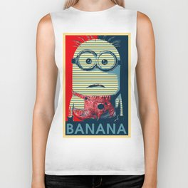 Minion banana Biker Tank