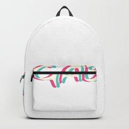 Gabber Techno Rave Trippy EDM Glitch Hadstyle Backpack