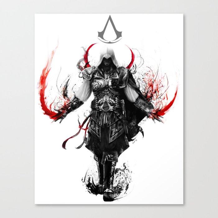 assassin's creed ezio Canvas Print