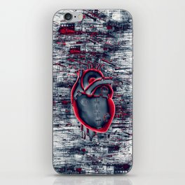 Gamer Heart BLUE CRIMSON / 3D render of mechanical heart iPhone Skin