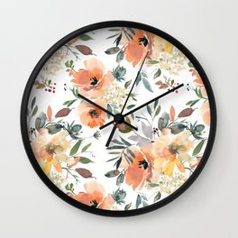 Peachy Keen Pattern Wall Clock