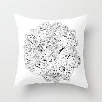 moss Throw Pillows featuring MOSS by AnnaToman