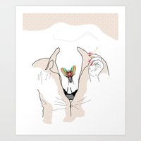 cigarette Art Prints featuring Cigarette by Neethi Goldhawk