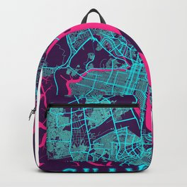 Guayaquil Neon City Map, Guayaquil Minimalist City Map Art Print Backpack