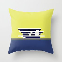 America's Cup Chipperfield Architecture Throw Pillow