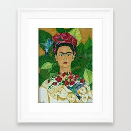 Frida In Heaven Framed Art Print
