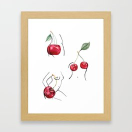 Cherry ladies Framed Art Print