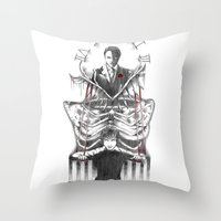 hannibal Throw Pillows featuring Hannibal by Lunzury