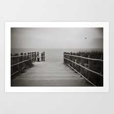 Lonely Beach Day Art Print
