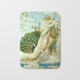 """Gustave Moreau """"The Peacock Complaining to Juno"""" Bath Mat"""