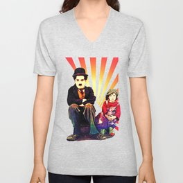 The Tramp and the Kid Unisex V-Neck