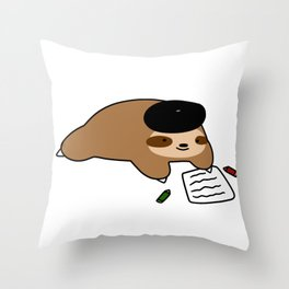 Beatnik Sloth Throw Pillow