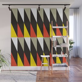 Geometric Pattern 119 (harlequin red yellow) Wall Mural