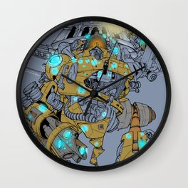 angry-bot in trieste Wall Clock