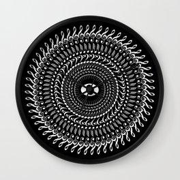 Music mandala no 2 - inverted Wall Clock