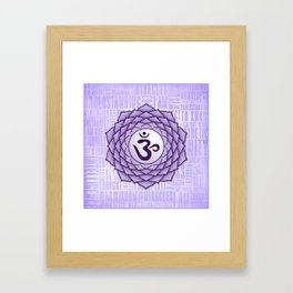Crown Chakra Framed Art Print