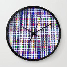 rhombus blue Wall Clock