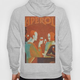 Aperol 'Salute!' Wine and Wine Alcohol Aperitif Vintage Advertisement Poster Hoody