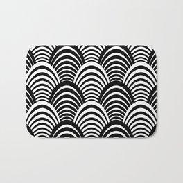 Black and White Art Deco Pattern Bath Mat