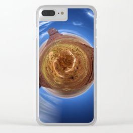 Little Planet Monument Valley Clear iPhone Case