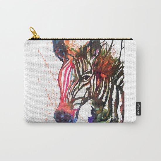 Zebra Splash Carry-All Pouch