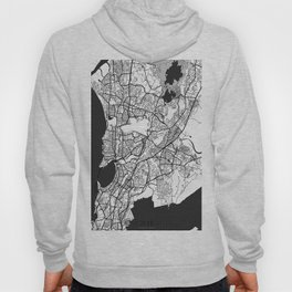 Mumbai Map Gray Hoody