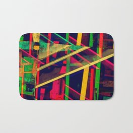Industrial Abstract Green Bath Mat