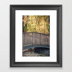 An Autumn Walk in the Park Framed Art Print