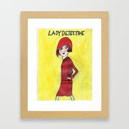 Lady Detective Framed Art Print