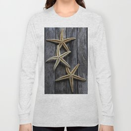 Starfishes in wooden Long Sleeve T-shirt