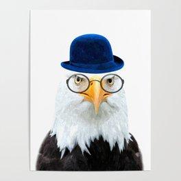 Funny Eagle Portrait Poster