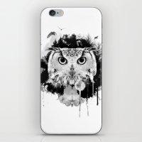 scandinavian iPhone & iPod Skins featuring Scandinavian Owl by Le Dous