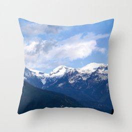 Mountains in the backyard Throw Pillow
