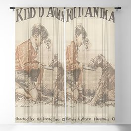Be Kind To Animals 3 Sheer Curtain