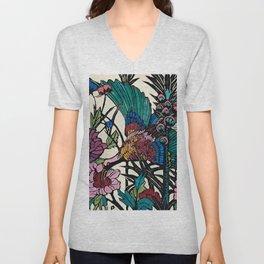 """""""Bird of Paradise"""" by Margaret Preston Unisex V-Neck"""